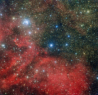 NGC 6604 - Image: The star cluster NGC 6604 and its surroundings