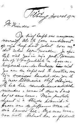 Theo van Doesburg letter to the Leibbrandt family 1914-10-30 p 1.jpg
