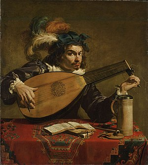 Theodoor Rombouts - The lute player