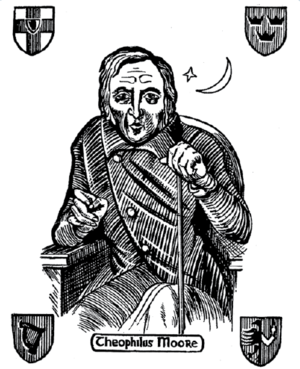 Old Moore's Almanac - This woodcut image was printed in Theophilus Moore's original editions, and has continued to appear in Old Moore's Almanac ever since.