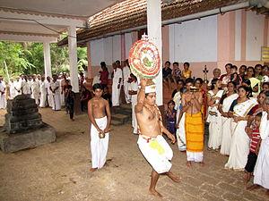 Thidambu Nritham - Thidambu Nritham performed at Sree Someswari Temple, Koovery