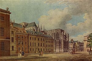 Treaty of Westminster (1654) - Old Palace Yard, Westminster Palace, by Thomas Malton
