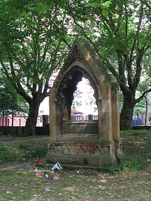 Thomas Rickman - Tomb of Thomas Rickman in the former churchyard of St George in the Fields, Hockley