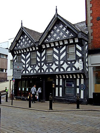 Stockport - The Three Shires, built in 1580, now Huffy's restaurant