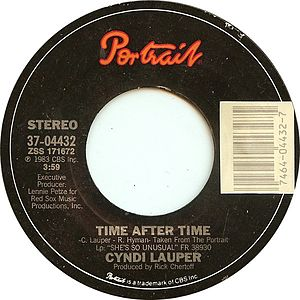 Time After Time (Cyndi Lauper song) - Image: Time After Time by Cyndi Lauper US vinyl A side
