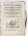 """Titelblad från 1629 """"De schat-kamer des grooten See=vaerts=kunst..."""" - Skoklosters slott - 93270.tiff"""