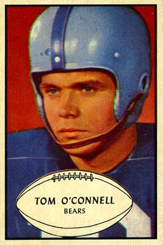 Tommy O'Connell - O'Connell on a 1953 Bowman football card