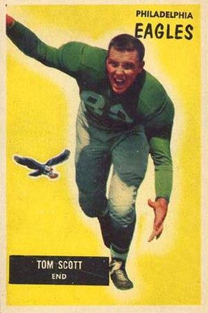 Tom Scott (linebacker) - Scott on a 1955 Bowman football card