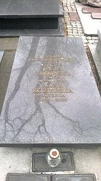 Tomb of M. Kozierkiewicz, F. Żukowski, M. Kozierska.jpg