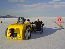 Tony Christiansen attempts to be the World's Fastest Amputee at the Bonneville Salt Flats.