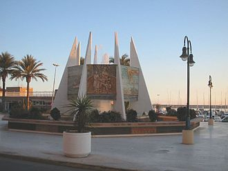 Fiestas of International Tourist Interest of Spain - Image: Torrevieja Monumento Coralista