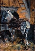 Toulouse-Lautrec - CELEYRAN, CHEVAL A L'ECURIE, 1882, MTL.72.jpg