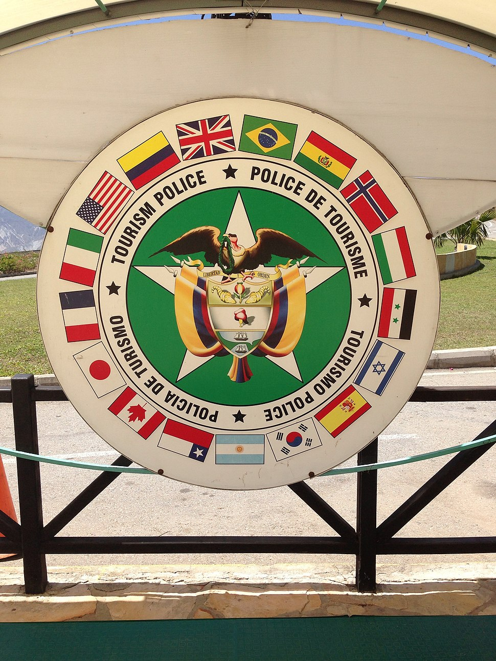 Tourism Police of Colombia at Ca%C3%B1on del Chicamocha National Park 2013-11-05 00-24