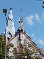 Tower of the Church of Archangel Michael, Ujvaros, 2016 Szekszard.jpg