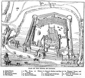 Fortifications of London - The Tower in 1597