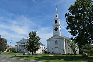 Hadley, Massachusetts - Town Hall and First Congregational Church