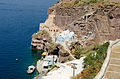 Traditional cave houses at Mesa Gialos - old harbour of Fira - Santorini - Greece - 02.jpg