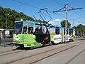 Tram 159 at Linnahall Stop in Tallinn 12 June 2015.JPG