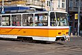 Tram in Sofia near Central mineral bath 2012 PD 065.jpg