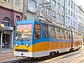Tram in Sofia near Palace of Justice 2012 PD 026.jpg