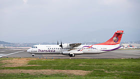 TransAsia Airways ATR 72-212A B-22816 Departing from Taipei Songshan Airport 20150101c.jpg