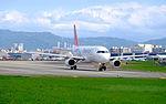 TransAsia Airways Airbus A320-233 B-22318 Departing from Taipei Songshan Airport 20151003c.jpg
