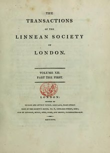 Transactions of the Linnean Society of London, Volume 12.djvu