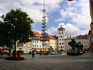 Traunstein Place in Bavaria, Germany
