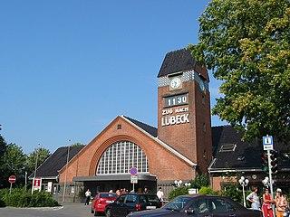 railway station in Travemünde, Germany