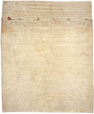 Treaty of Greenville - First page of the Treaty of Greenville.