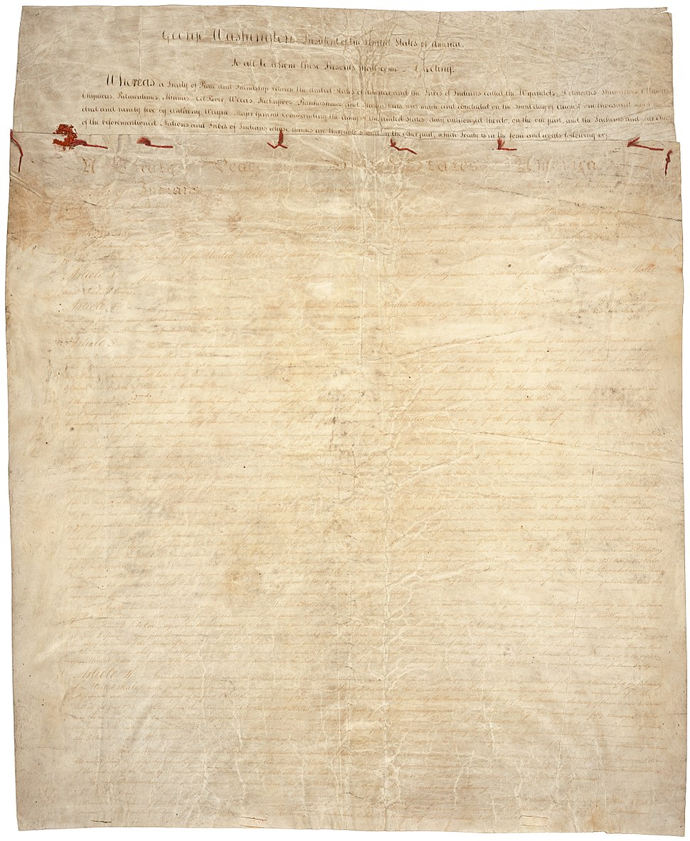 Treaty of Greenville page1