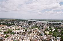 Top view of the city and Kaveri river