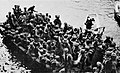 Troops of 29th Indian Infantry Brigade disembarking from a boat, Gallipoli, 1915.jpg