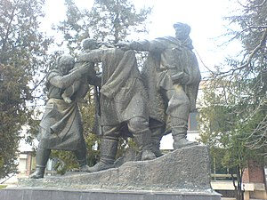 Bulgarian resistance movement during World War II - Monument to the Bulgarian partisans in Tran, Bulgaria