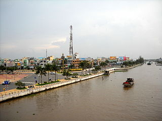 Vị Thanh City in Hậu Giang, Vietnam