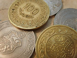 Tunisian dinar - Image: Tunisian dinars and millimes