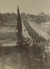 Turkish columns marching out to drill, 1914.JPG