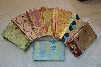518ef14ce2274e Tussore silk sarees from Phulia, India.
