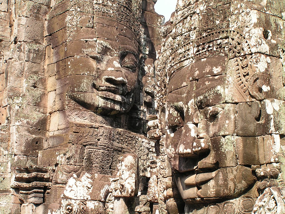 Two Khmer Heads-Angkor Wat