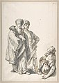 Two Standing Male Figures and Seated Woman with a Child MET DP809548.jpg