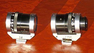 Viewfinder - German Tewe 35 mm to 200 mm zoom viewfinder