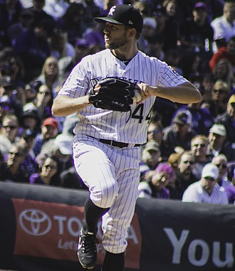 Tyler Anderson - Anderson pitching for the Colorado Rockies in 2018