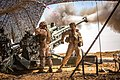 U.S. Marines with the 11th Marine Expeditionary Unit fire an M777 Howitzer during a fire mission in northern Syria as part of Operation Inherent Resolve, Mar. 24, 2017.jpg