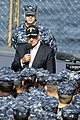 U.S. Secretary of Defense Leon E. Panetta, civilian clothes, speaks to Sailors aboard the U.S. 7th Fleet command flagship USS Blue Ridge (LCC 19) Oct. 26, 2011, in Yokosuka, Japan 111026-N-XG305-528.jpg