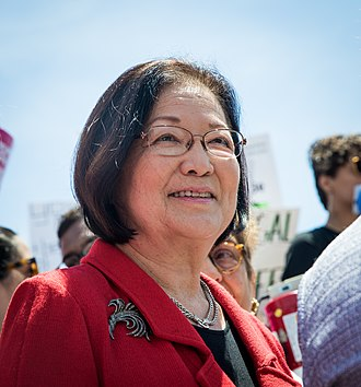 Hirono at a Stop the Bans rally in 2019 U.S. Senator Mazie Hirono at the 2019 Stop the Bans Rally.jpg