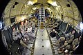 U.S. Soldiers with the 1st Battalion, 294th Infantry Regiment, Guam Army National Guard travel in a German Air Force C-160 Transall aircraft from Balkh province to Kabul, Afghanistan, Oct. 2, 2013 131002-Z-WM549-001.jpg