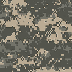 Universal Camouflage Pattern - A computerized rendition of a swatch of the Universal Camouflage Pattern
