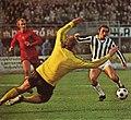 UEFA Cup 1974-75 - Juventus FC v AFC Ajax - Piet Schrijvers, Oscar Damiani.jpg