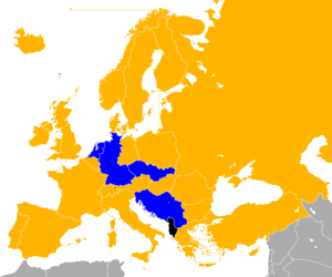 UEFA Euro 1976 qualifying - Image: UEFA Euro 1976 Qualifiers Map