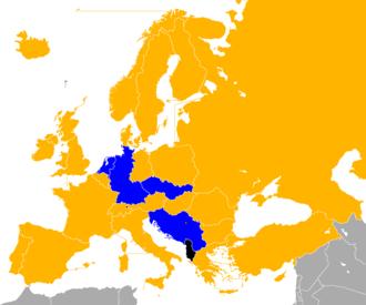 UEFA Euro 1976 qualifying - Image: UEFA Euro 1976 Qualifiers Map